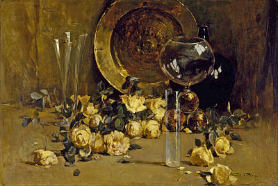 Painting - Still Life With Yellow Roses by Emil Carlsen