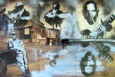 Follow Your Bliss Mixed Media - Still Raining Blues by Scott Perry and Robert Wolverton Jr