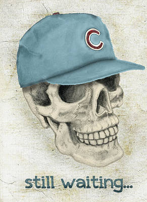 Chicago Baseball Drawing - Still Waiting Too by Larry Scarborough