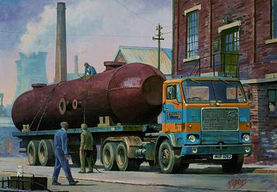 Volvo Painting - Stillers Volvo F88 by Mike  Jeffries