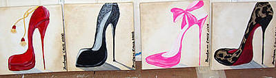 Stillettos Painting - Stilletto Styles by Barbara Cruz