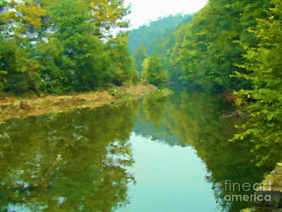 Stilling River Print by Miroslav Nemecek