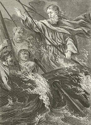 Stilling The Tempest  Print by English School