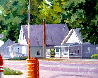 Gas Station Painting - Stillness by Charlie Spear
