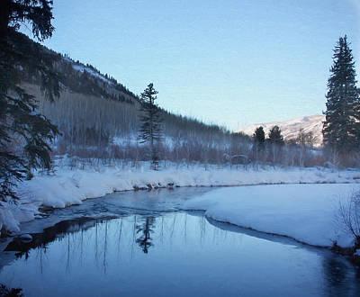 Winter Scenes Photograph - Stillness by Kim Hojnacki