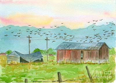 Stillwater Birds At Sunrise Print by Cathie Richardson