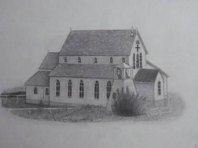 St.margarets Anglican Church Change Islands Original by Tonya Hoffe