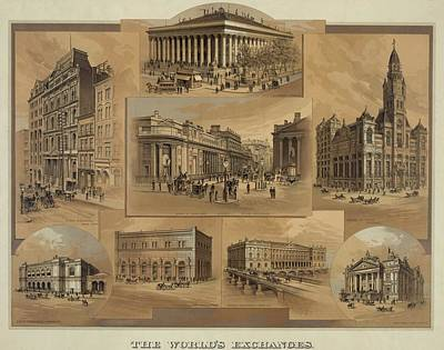 1880s Photograph - Stock Exchanges In New York, Paris by Everett