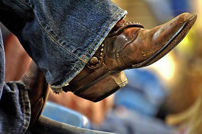 Men Shoe Photograph - Stock Show Boots I by Joan Carroll