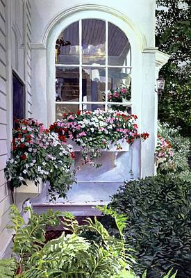 Stockbridge Window Boxes Print by David Lloyd Glover