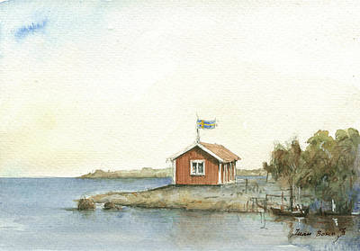 Stockholm Painting - Stockholm Archipelago by Juan Bosco
