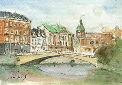 Stockholm Painting - Stockholm Sweden by Juan Bosco