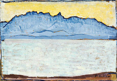 Ferdinand Hodler Painting - Stockhorn With Lake Thun by Ferdinand Hodler