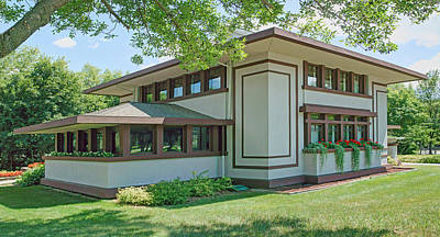 Stockman House - Frank Lloyd Wright Print by Nikolyn McDonald