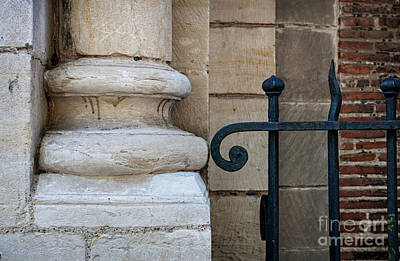 Church Pillars Photograph - Stone And Metal by Elena Elisseeva