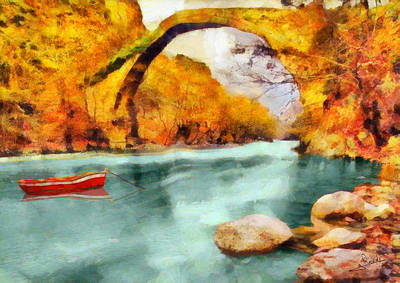 Woods Painting - Stone Bridge 2 by George Rossidis