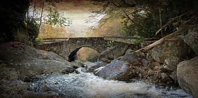 West Fork Digital Art - Stone Bridge Crossing by Gary Conner
