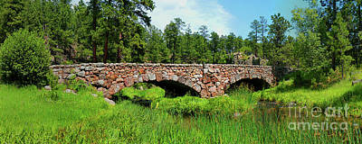 Prospecting Photograph - Stone Bridge Over French Creek by Terril Heilman