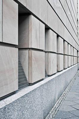 Brick Building Photograph - Stone Building Detail by Tom Gowanlock