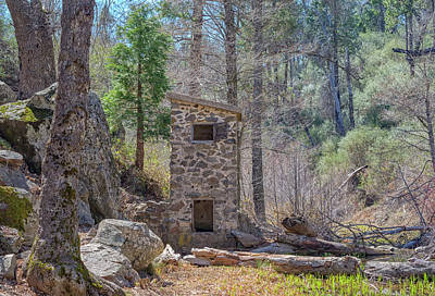 Stone Buildings Photograph - Stone Building In The Forest by Joseph S Giacalone