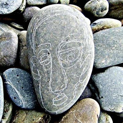Stone Faced Print by Steve Clement-Large