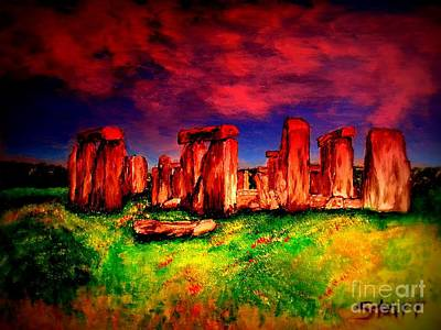 Stone Henge At Twilight Print by Irving Starr