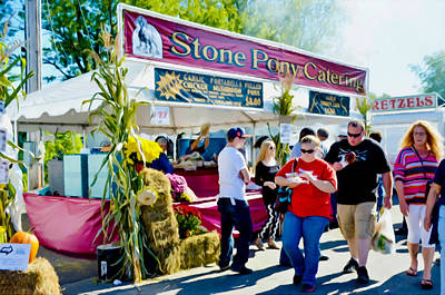 Shrospshire Painting - Stone Pony Catering by Lanjee Chee