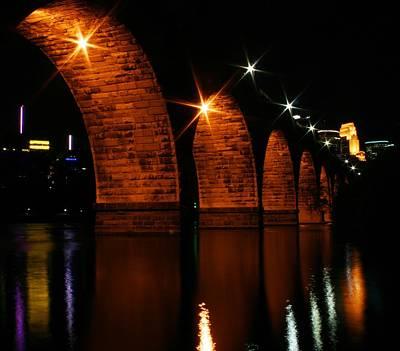 Minnesota Photograph - Stonearch Bridge - Minneapolis by Angie Schutt