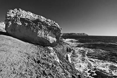 Deco Photograph - Menorca North Shore - Stoned In Black And White by Pedro Cardona