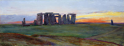 Stone Painting - Stonehenge by John William Inchbold
