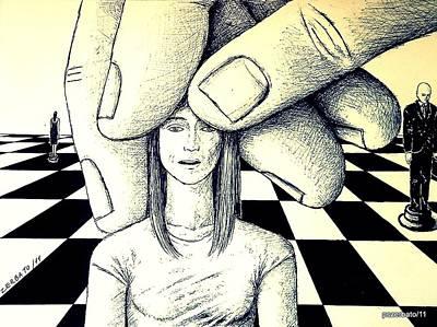 Stones In The Chessboard Of Life Print by Paulo Zerbato