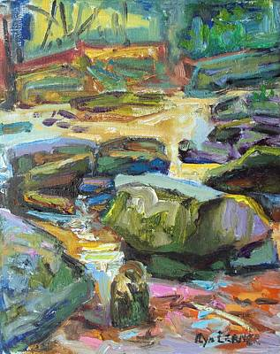 Lansdcape Painting - Stones In Water by Ilya Lerner