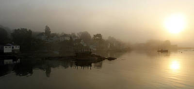 Stonington Dawn Print by Alan Todd