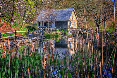 Stony Brook Grist Mill Print by Rick Berk