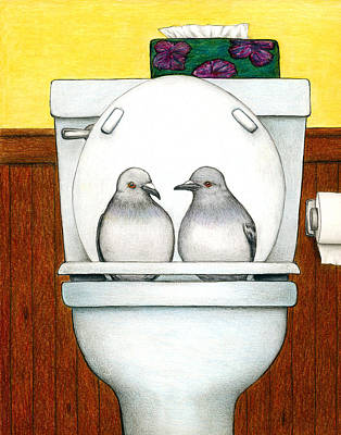 Pigeon Drawing - Stool Pigeon by Don McMahon