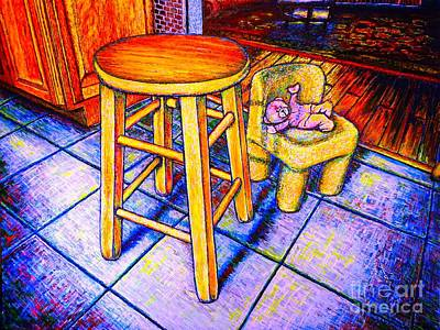 Etc Drawing - Stool by Viktor Lazarev