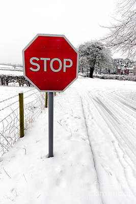 Snowy Digital Art - Stop by Adrian Evans