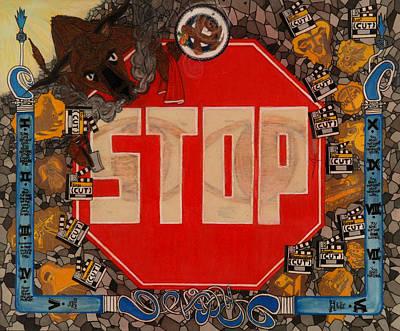 Stop C.t.b.s Print by Angelo Sena