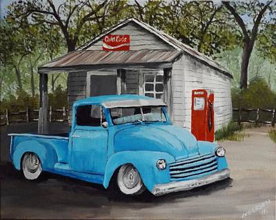Painting - Stopping By The Country Store by Pamela Anderson