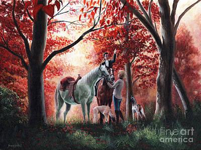 Horse Painting - Stopping For Joy by Bretislav Stejskal