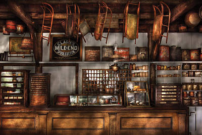 Store - Old Fashioned Super Store Print by Mike Savad