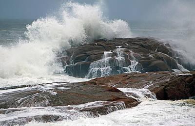 Storm At Hazard Rock Print by Jim Beckwith