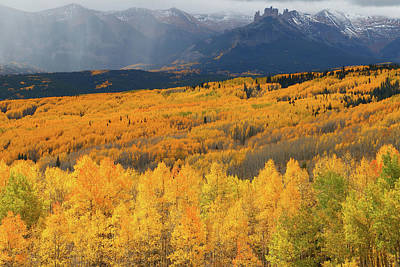 Aspen Photograph - Storm At Ohio Pass During Autumn by Jetson Nguyen