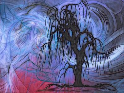 Storm At Sunset Original by Gary D Baker