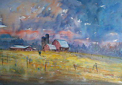 Silos Painting - Storm Brewing by Ryan Radke