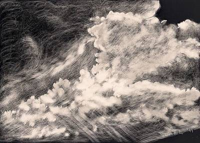 Cloudscape Drawing - Storm Clouds 2 by Elizabeth Lane