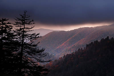 Great Smoky Mountain National Park Photograph - Storm Clouds At Sunrise by Andrew Soundarajan