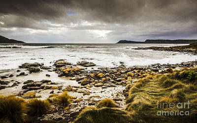 Squall Photograph - Storm Clouds Over Cloudy Bay by Jorgo Photography - Wall Art Gallery