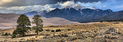 Storm Clouds Over Great Sand Dunes Print by Adam Jewell