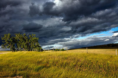 Storm Clouds Over Wyoming Print by Mountain Dreams
